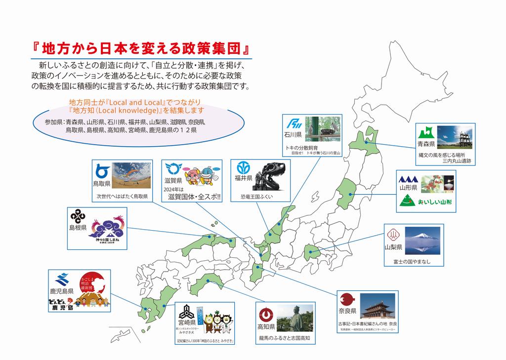 自立と分散で日本を変えるふるさと知事ネットワーク   福井県ホームページ